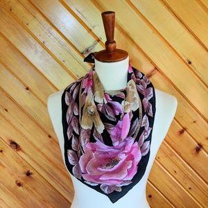 ADRIENNE VITTADINI - Floral Silk Scarf